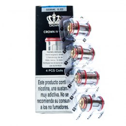 Resistencia para Crown IV SS904L Coil (4pcs) - Uwell